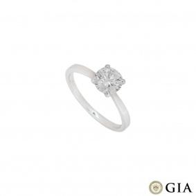 White Gold Round Brilliant Cut Diamond Ring 1.04ct E/VS1 XXX